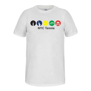 Unisex NYC Subway Tennis Tee White