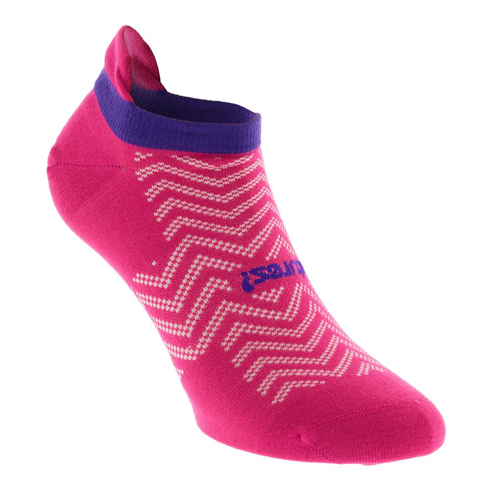 High Performance Ultra Light No Show Tab Tennis Socks Chevron Pnk