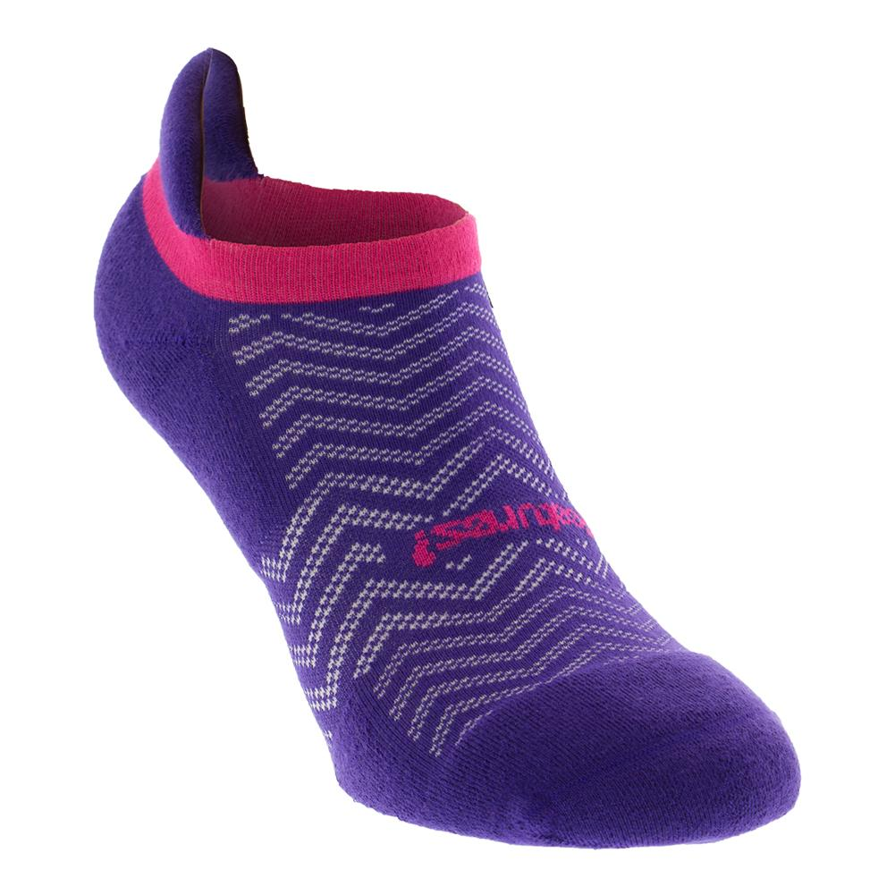 High Performance Cushion No Show Tab Tennis Socks Chevron Iris