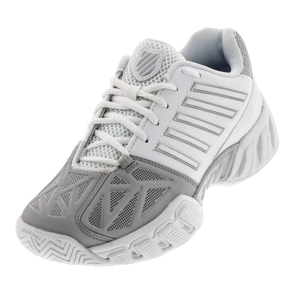 Juniors ` Bigshot Light 3 Tennis Shoes White And Silver