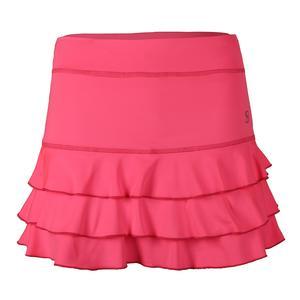 Women`s 13 Inch Tennis Skort Neon Pink