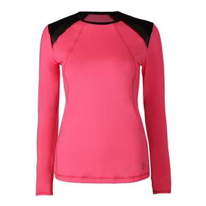 Women`s Classic Longsleeve Tennis Top Neon Pink
