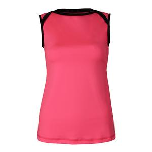 Women`s Classic Sleeveless Tennis Top Neon Pink