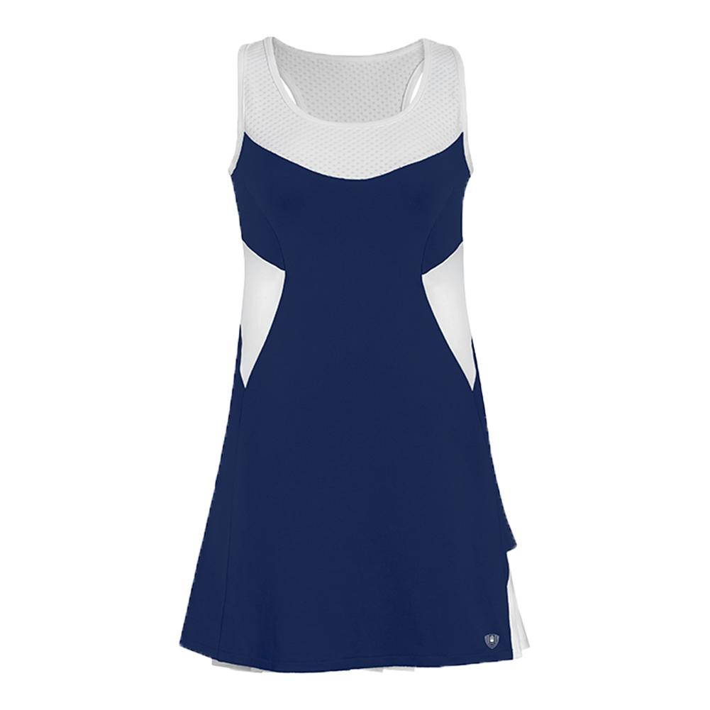 Women's Tease Double Pleated Tennis Dress Navy