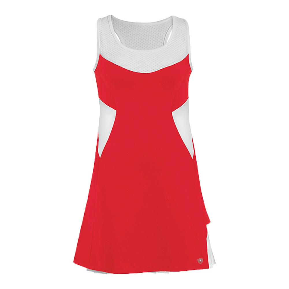 Women's Tease Double Pleated Tennis Dress Red