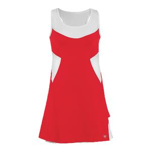Women`s Tease Double Pleated Tennis Dress Red
