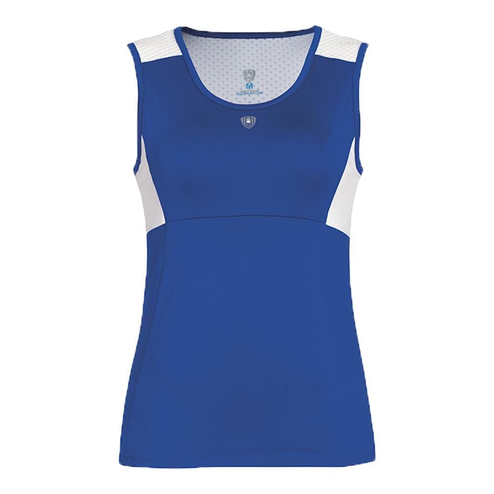 Women's Key- Hold Fashion Tennis Tank Royal