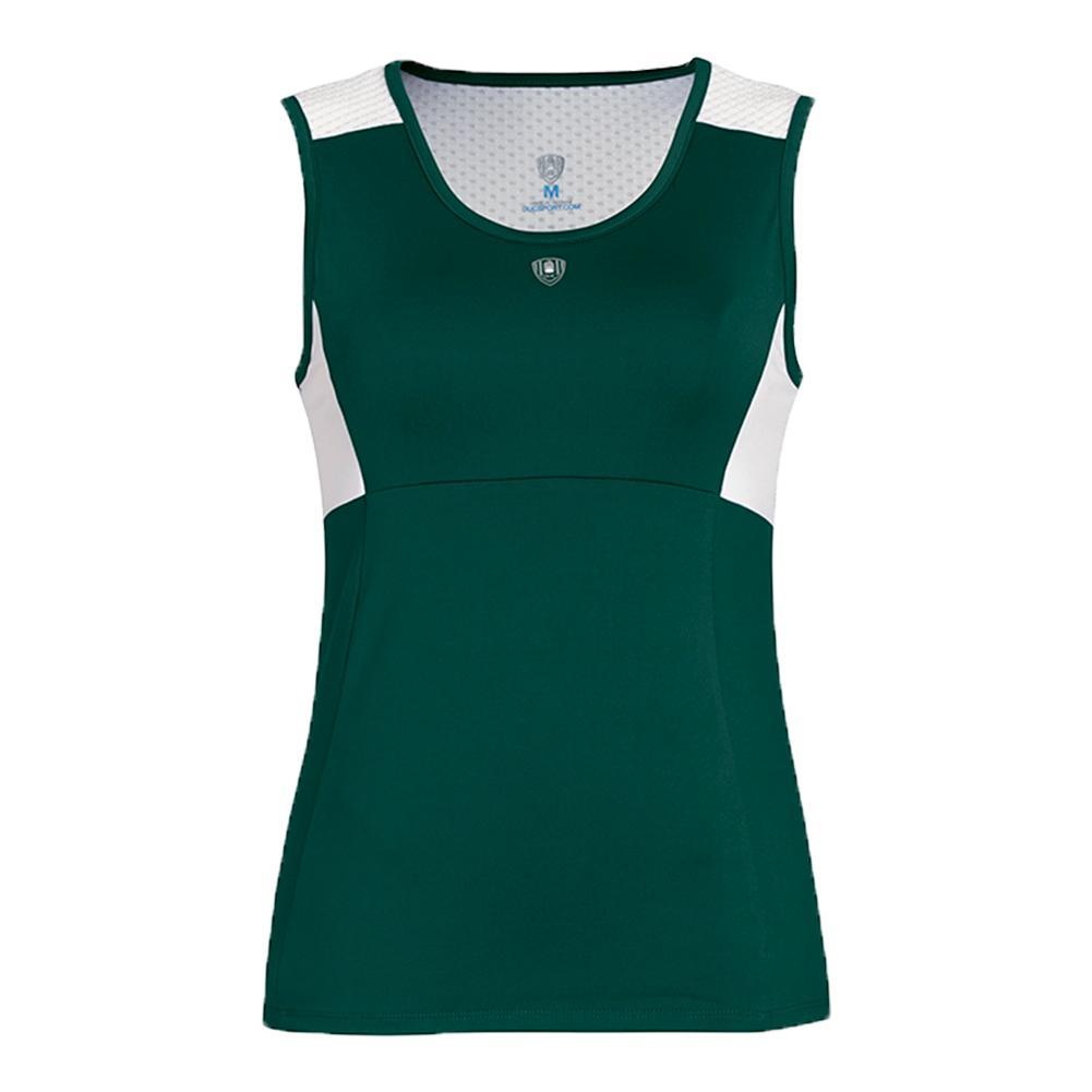 Women's Key- Hold Fashion Tennis Tank Pine Green