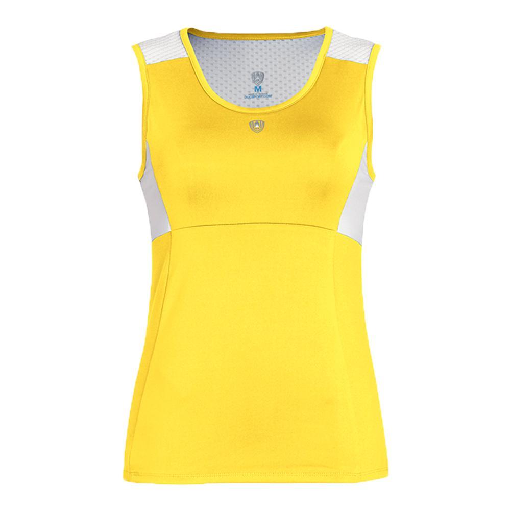 Women's Key- Hold Fashion Tennis Tank Gold