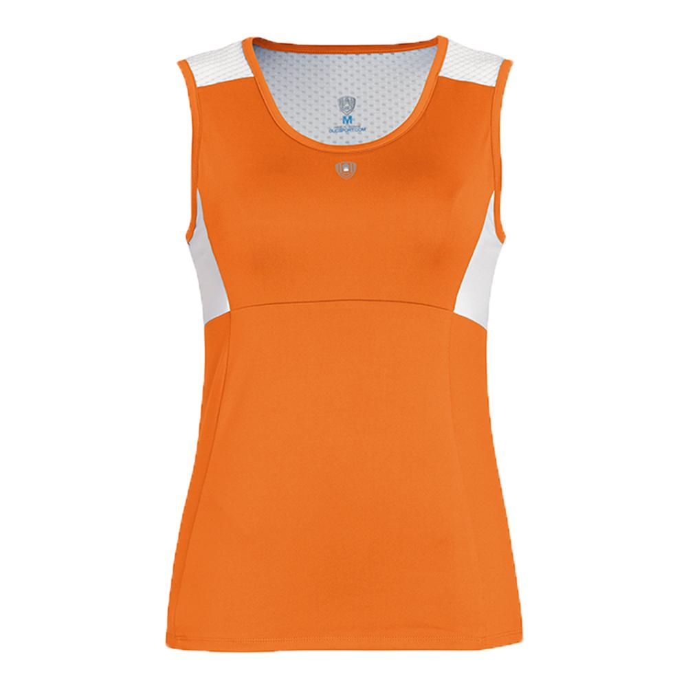 Women's Key- Hold Fashion Tennis Tank Orange