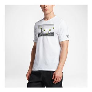 Men`s Court New York Tennis Tee White