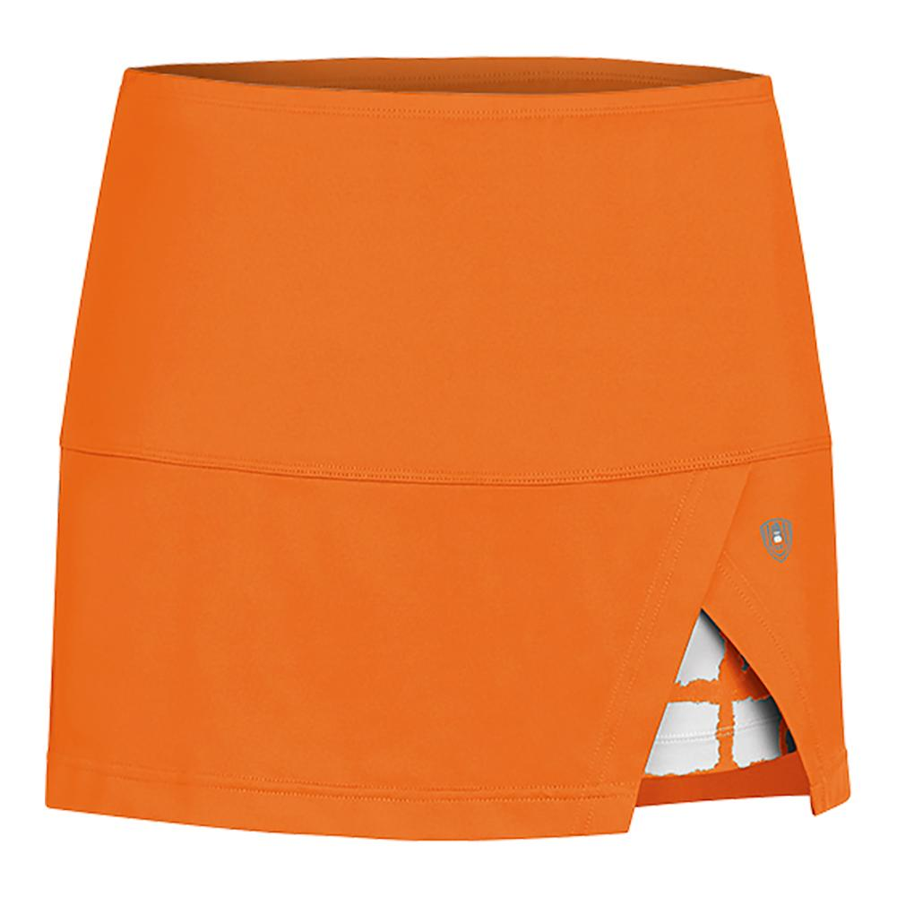 Women's Peek- A- Boo Vented Power Tennis Skort Orange