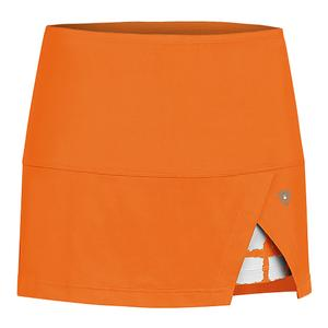 Women`s Peek-A-Boo Vented Power Tennis Skort Orange