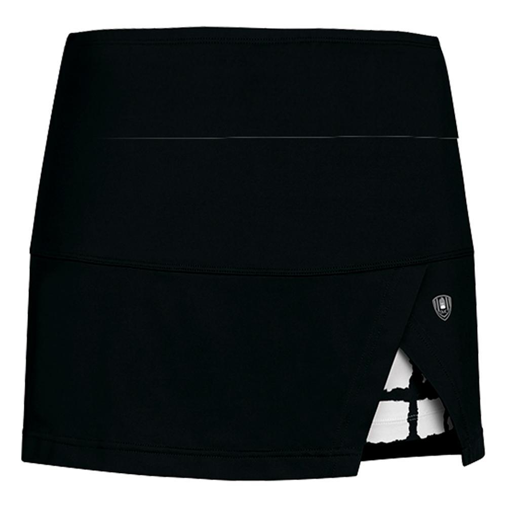 Women's Peek- A- Boo Vented Power Tennis Skort Black