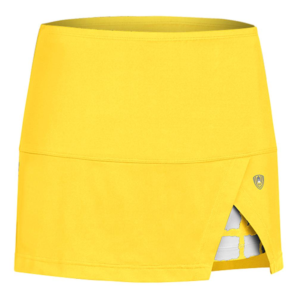 Women's Peek- A- Boo Vented Power Tennis Skort Gold