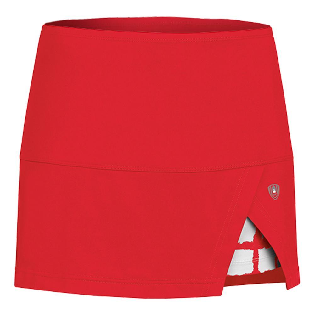Women's Peek- A- Boo Vented Power Tennis Skort Red