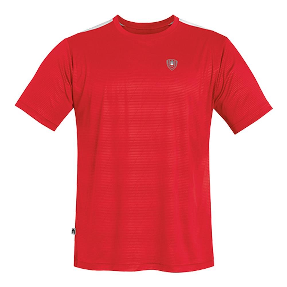 Men's Traction Performance Tennis Crew Red
