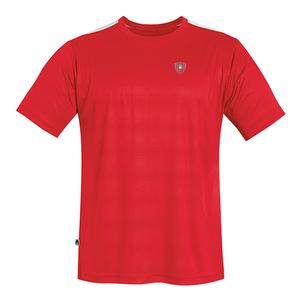 Men`s Traction Performance Tennis Crew Red