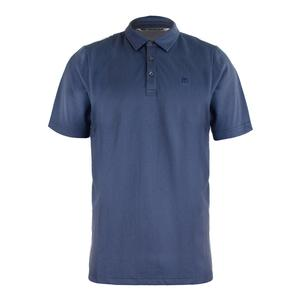 Men`s Tennille Tennis Polo Alloy and Blue Indigo