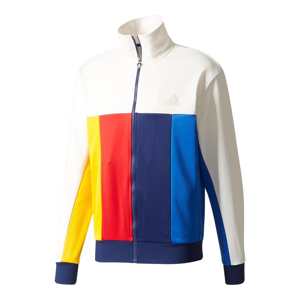 Men's New York Pharrell Williams Tennis Jacket Chalk White
