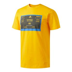 Men`s New York Pharrell Williams Graphic Tennis Tee Yellow