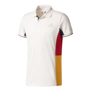 Men`s New York Pharrell Williams Colorblock Tennis Polo Chalk White
