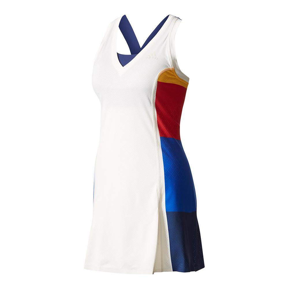 Women's New York Pharrell Williams Colorblock Tennis Dress Chalk White