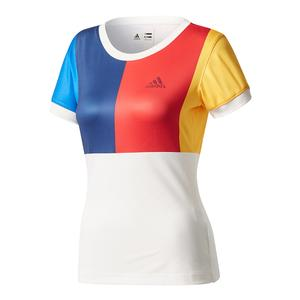 Women`s New York Pharrell Williams Tennis Tee Chalk White