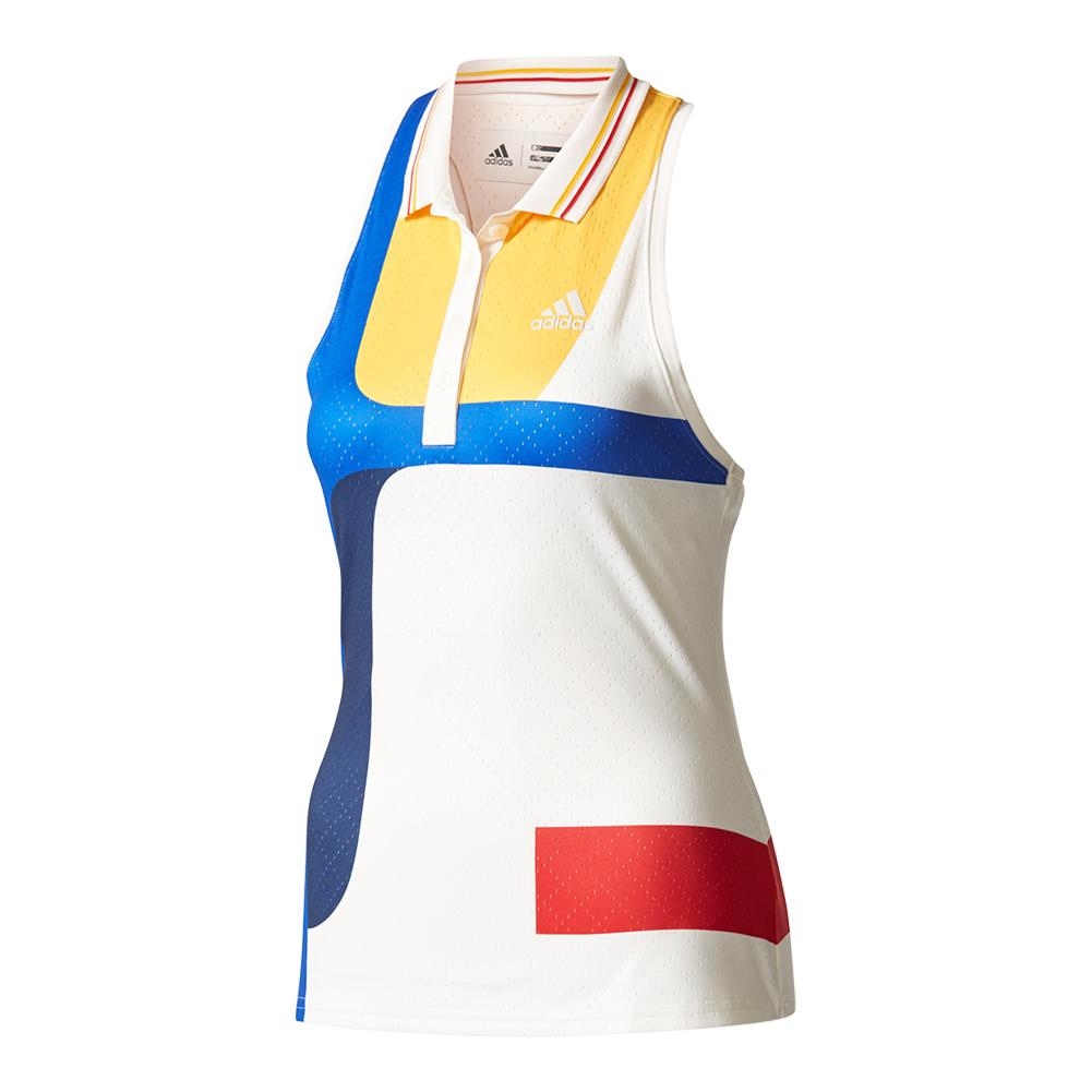 Women's New York Pharrell Williams Colorblock Tennis Tank Chalk White