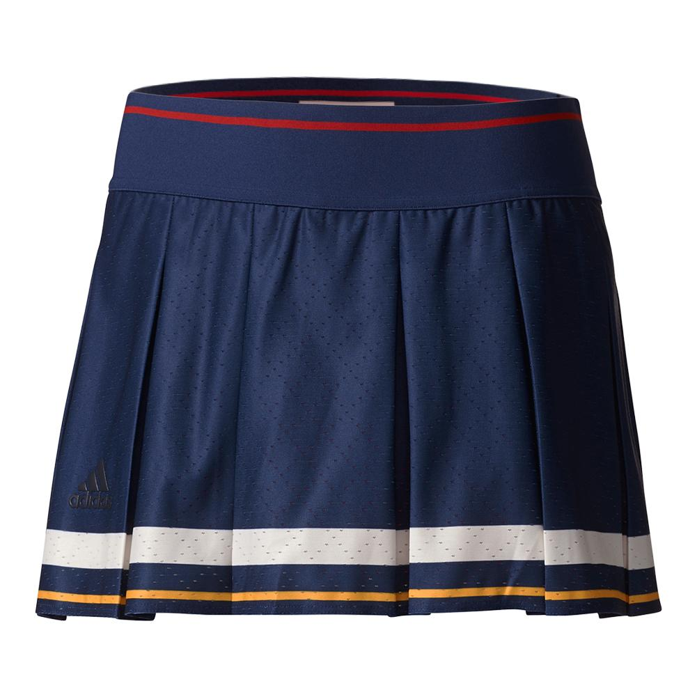 Women's New York Pharrell Williams Tennis Skort Dark Blue And Scarlet
