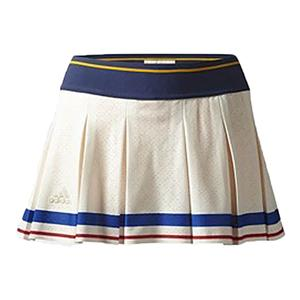 Women`s New York Pharrell Williams Tennis Skort Chalk White and Collegiate Gold