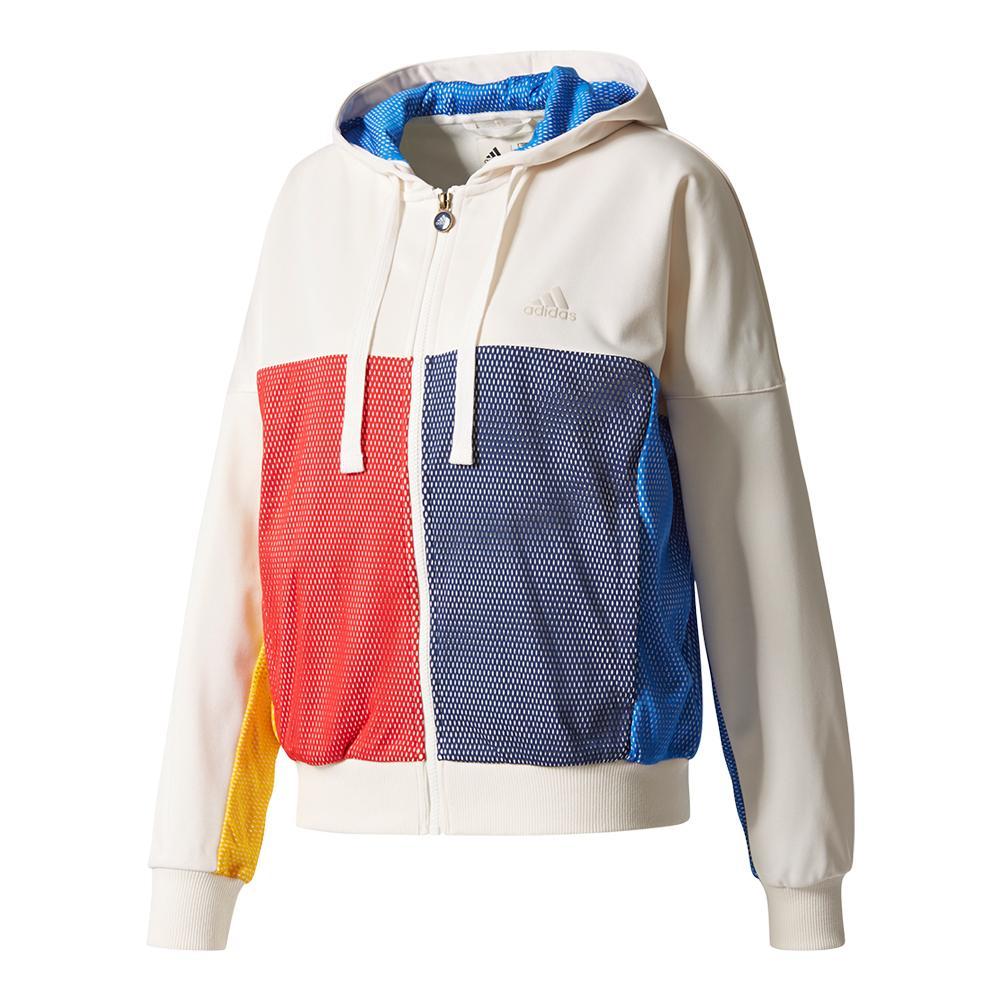 Women's New York Pharrell Williams Tennis Jacket Chalk White