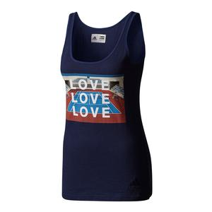 Women`s New York Pharrell Williams Graphic Tennis Tank Blue