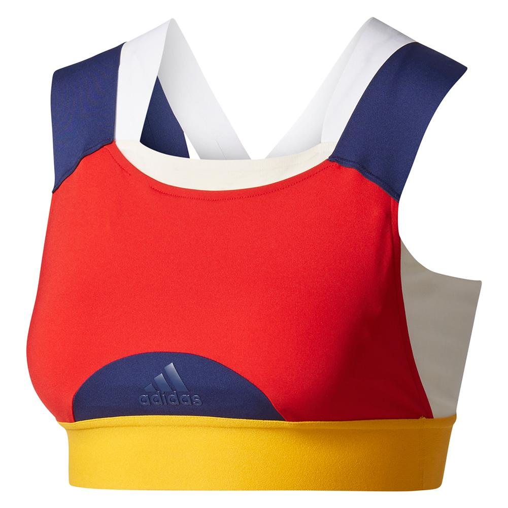 Women's New York Pharrell Williams Tennis Bra Chalk White And Scarlet
