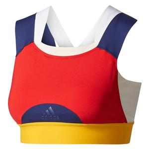 Women`s New York Pharrell Williams Tennis Bra Chalk White and Scarlet