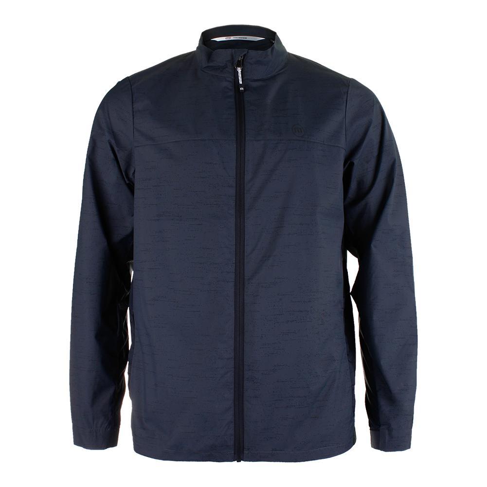 Men's Voyager Tennis Jacket Gray Pinstripe