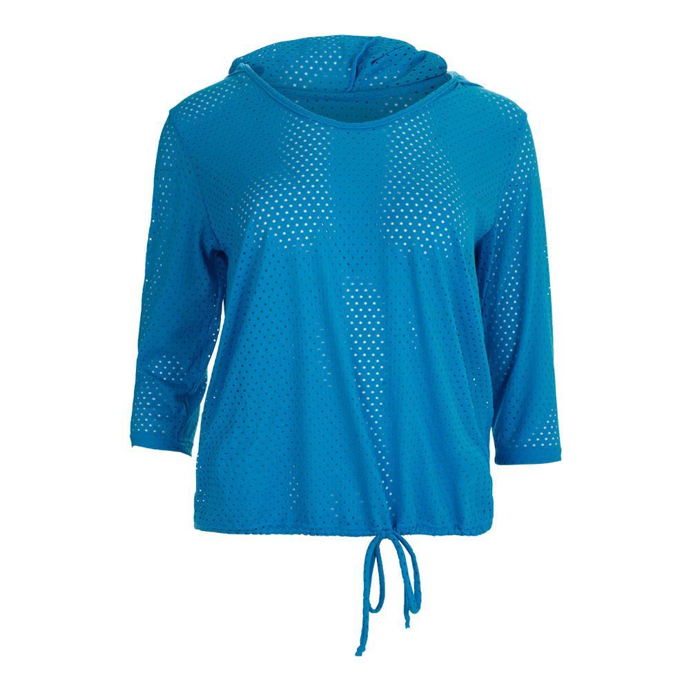 Women's Full Screen Tennis Hoody Aquamarine
