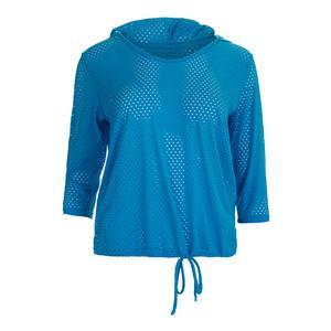 Women`s Full Screen Tennis Hoody Aquamarine