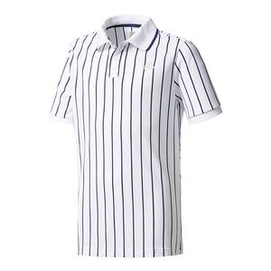 Boys` New York Pharrell Williams Tennis Polo Chalk White and Dark Blue
