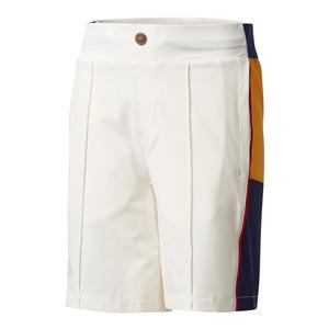 Boys` New York Pharrell Williams Stripe Tennis Short Chalk White