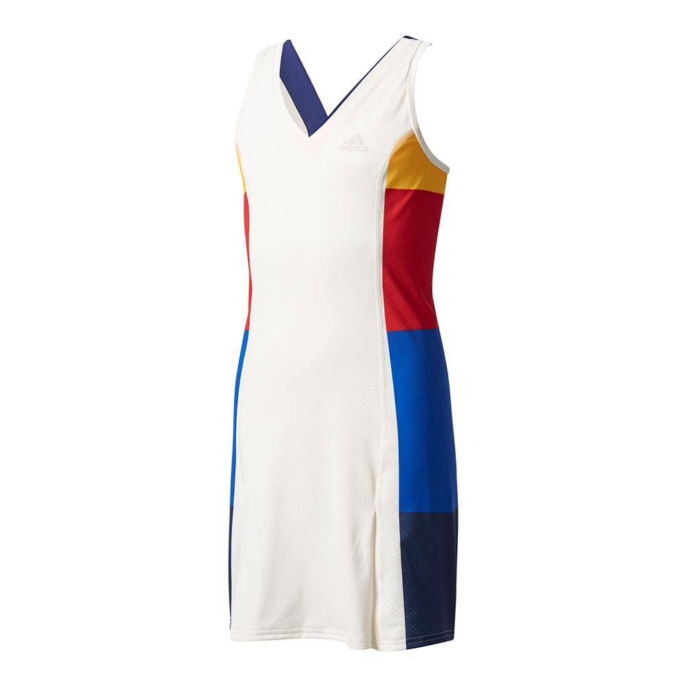 Girls ` New York Pharrell Williams Tennis Dress Chalk White And Dark Blue