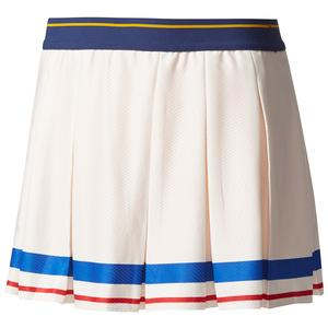Girls` New York Pharrell Williams Tennis Skort Chalk White and Collegiate Gold