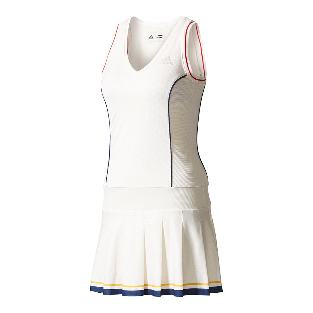 Women's New York Pharrell Williams Solid Tennis Dress Chalk White