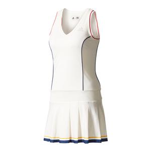 Women`s New York Pharrell Williams Solid Tennis Dress Chalk White
