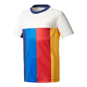 Boys` New York Pharrell Williams Tennis Tee Chalk White