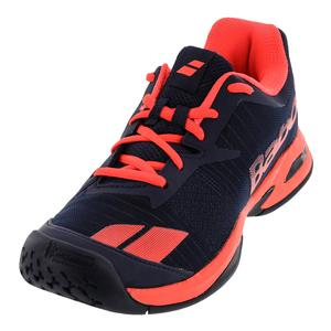 Juniors` Jet All Court Tennis Shoes Blue and Red