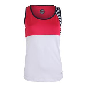 Women`s Tulip Fields Tennis Tank White and Tulip