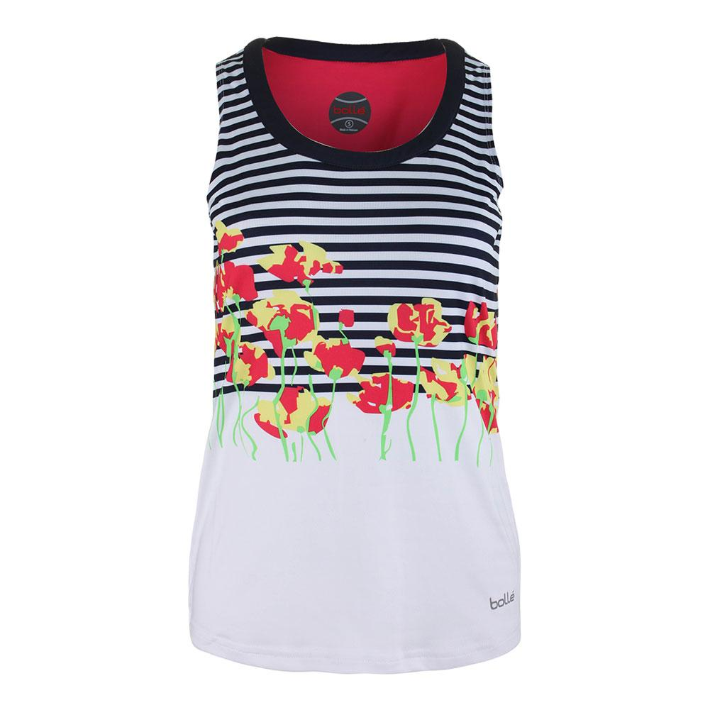 Women's Tulip Fields Graphic Tennis Tank White