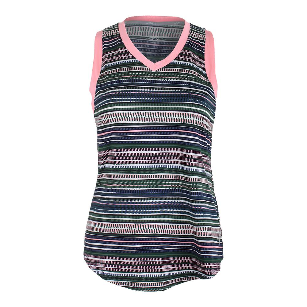 Women's Match Point Tennis Tank Aurora Stripe