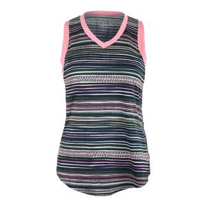 Women`s Match Point Tennis Tank Aurora Stripe